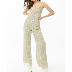 NWT forever 21 sequin cami jumpsuit